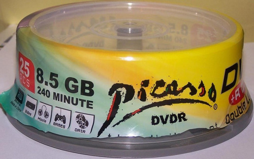 dvd+r dual layer marca picasso