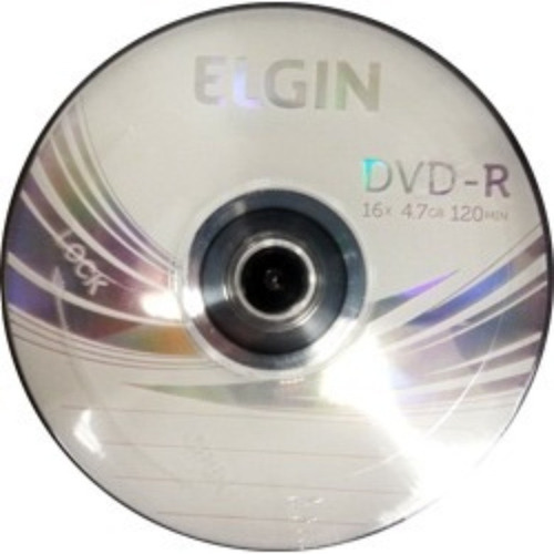 dvd-r elgin 4,7 gb / 120 min - kit c/ 10 und
