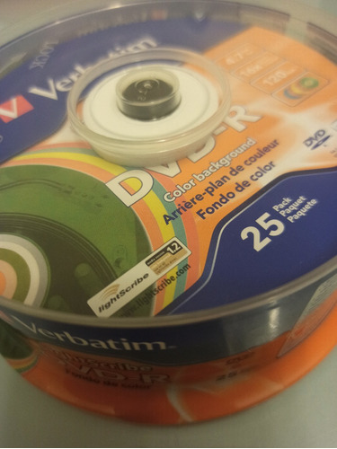 dvd-r grabable x25 unidades 4.7gb 16x alta velocidad