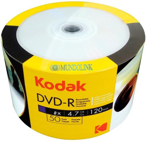 dvd r  imprimible kodak 50 unidades - unidad a $500