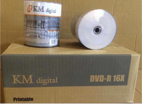 dvd-r kmdigital cono de 100 unidades