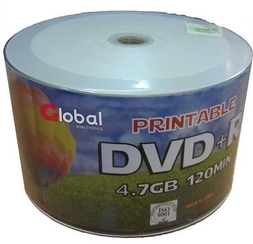 dvd+r printable imprimible 4.7gb 120min 16x iso9001 bulk x50