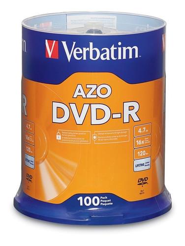 dvd-r verbatim bulk x 100u