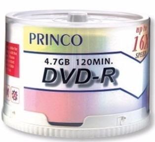 dvd-r virgen princo 4.7gb 120min 16x torre de 50 dvd