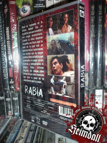 dvd rabia rabid david cronenberg español horror gore arte