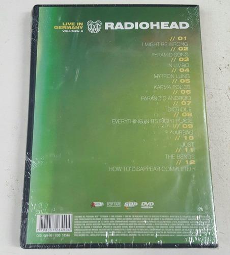 dvd radiohead live in grrmany   vol 2  nuevo