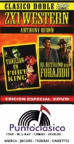 dvd - raición en fort king +  el retorno -  anthony quinn