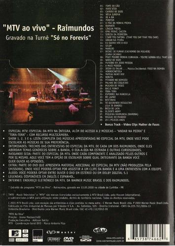 dvd raimundos - mtv ao vivo