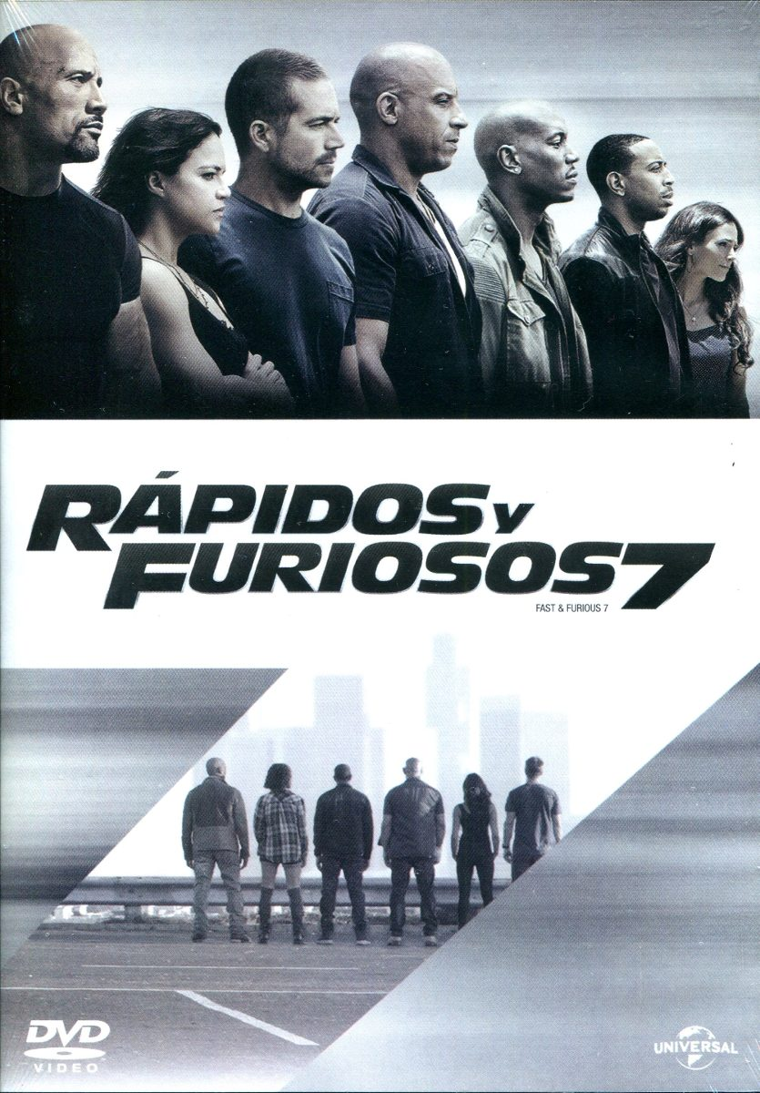 dvd rapidos y furiosos 7 fast furious 7 2015 james w en mercado libre. Black Bedroom Furniture Sets. Home Design Ideas