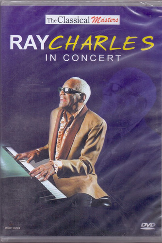 dvd ray charles - in concert - novo***
