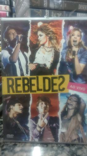 dvd - rebeldes ao vivo - produto novo lacrado
