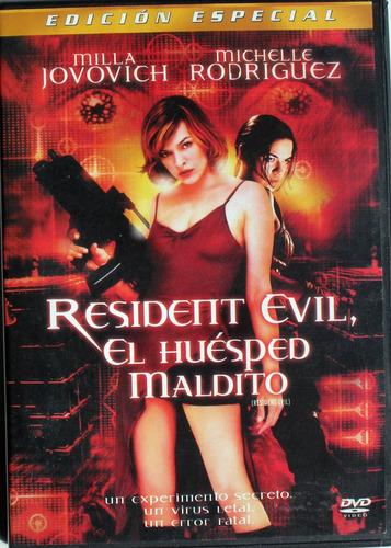 dvd - resident evil - el huesped maldito - importado mexico