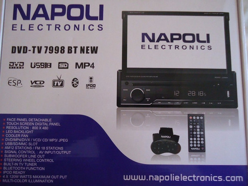 dvd retratil napoli 7998 bt bluetooth tv analógica usb divx