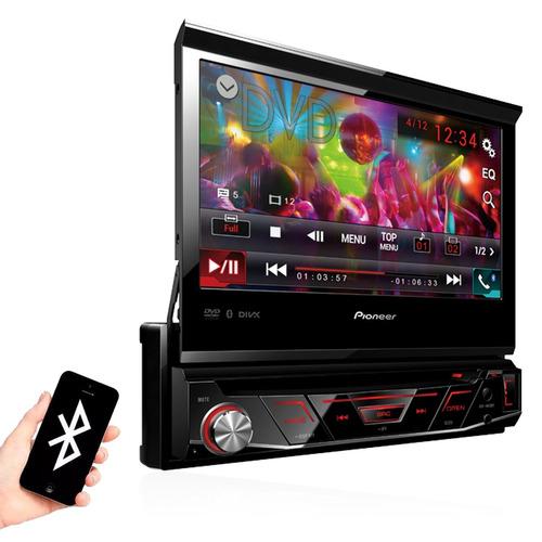 dvd retratil pioneer 7 pol usb bluetooth + encosto + camera