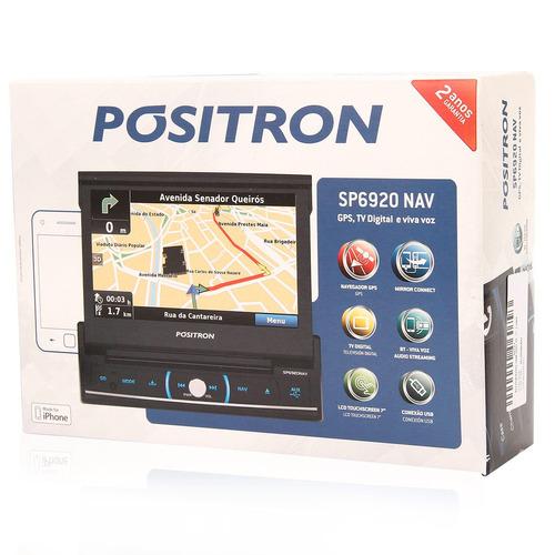 dvd retratil positron bluetooth tv usb mirror connect