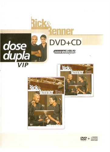 dvd rick & renner - dvd + cd dose dupla vip  novo***