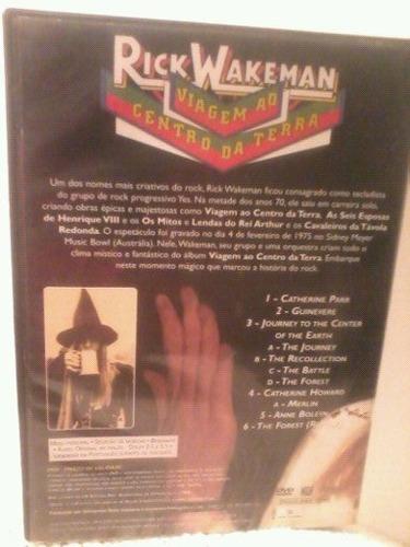 dvd rick wakeman(viagem ao centro da terra)
