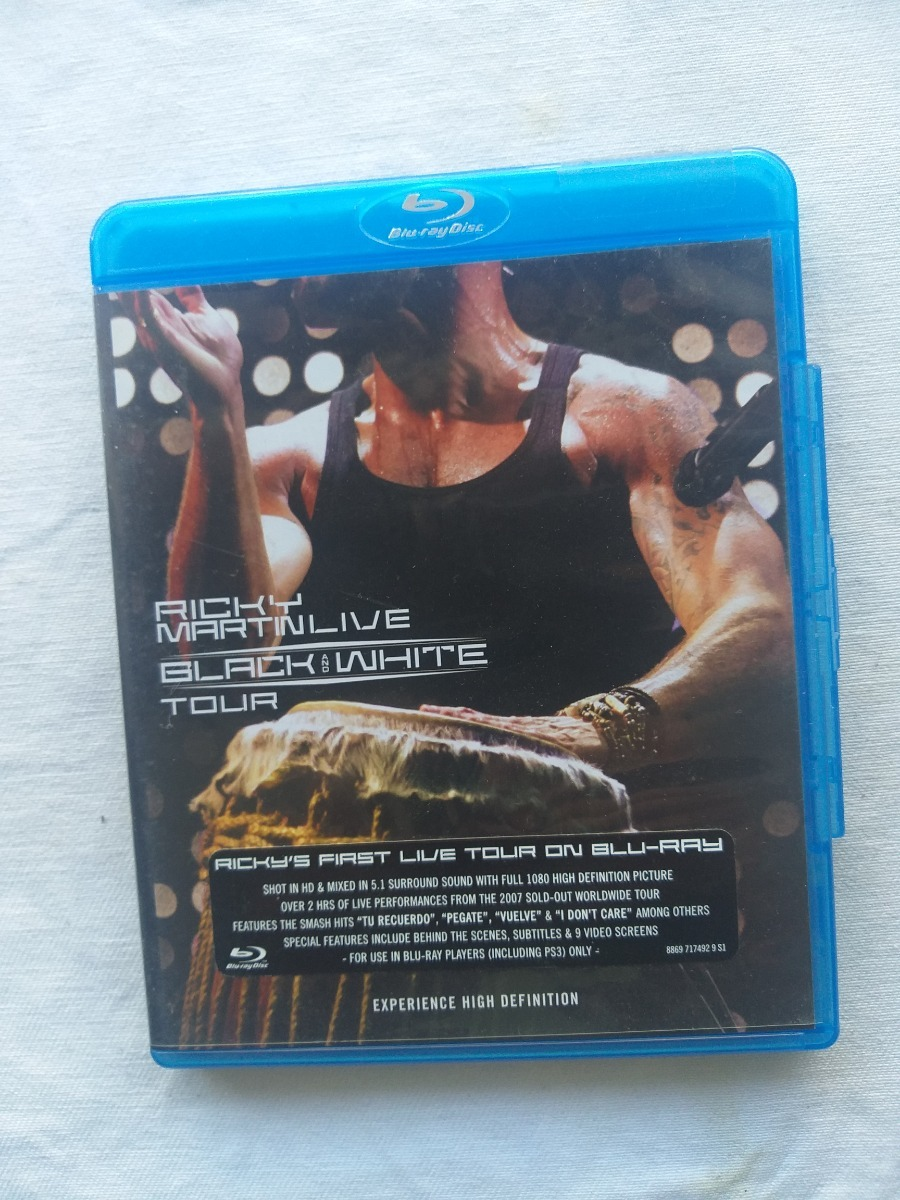 Dvd Ricky Martin Live Black And White Tour Blu ray Disc