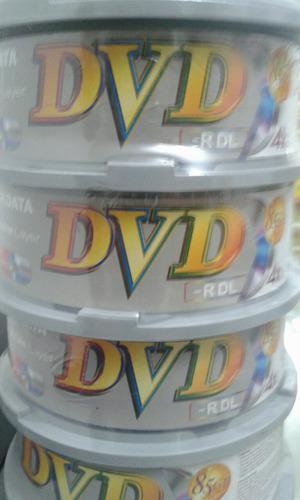 dvd ridata doble capa. 8.5 gb 4x cono de 25