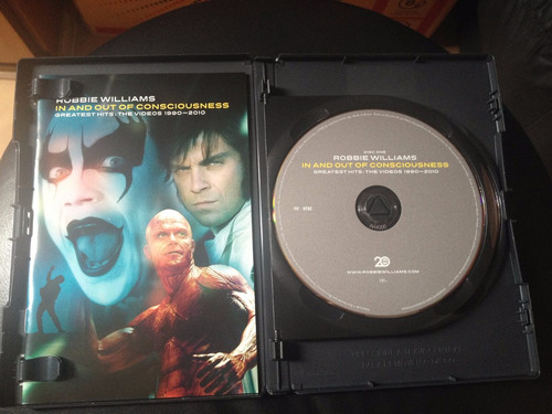 dvd robbie williams - greatest hits:the videos 1990-2010