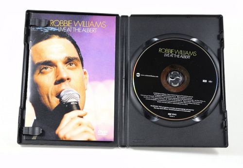 dvd robbie williams - live at the albert