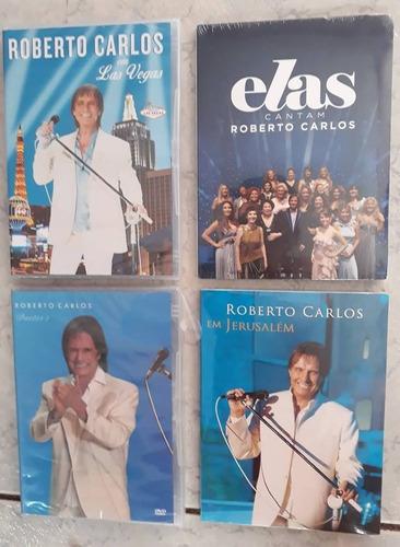 dvd roberto carlos colecao 4 dvds originais