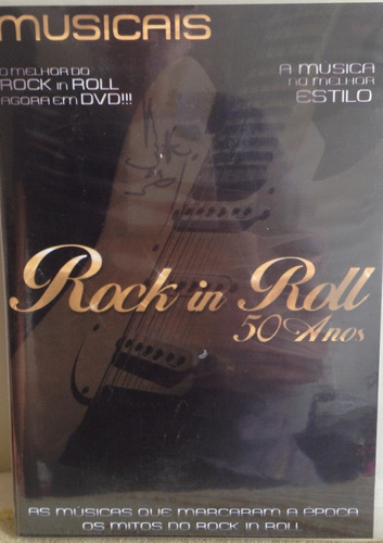 dvd rock in roll 50 anos - novo/lacrado.