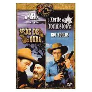 dvd roy rogers - sede de ouro e o xerife de tombstone