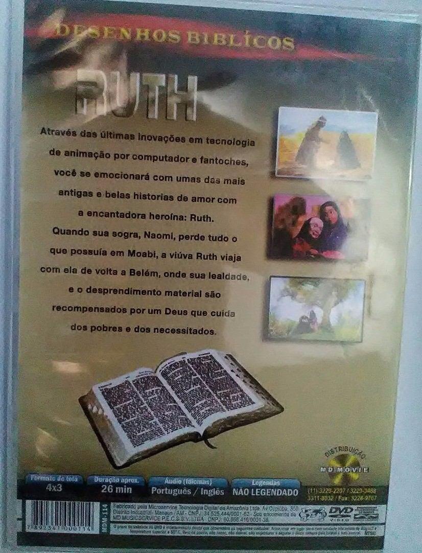 Dvd Ruth Desenhos Biblicos Dublado Original Lacrado R 18
