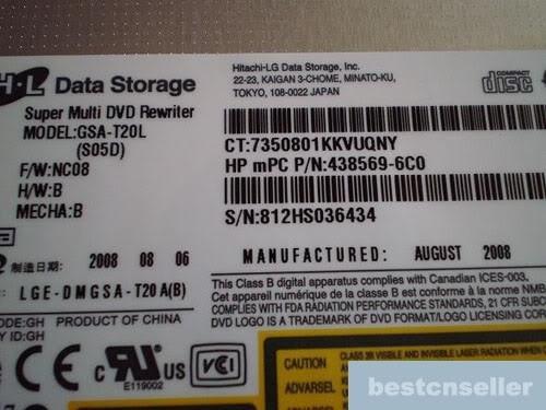 dvd rw 455830-002 gsa-t20l 438569-6c0 v3000 dv9000 tx1000