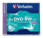 dvd-rw 4.7gb 4x marca verbatim - caja imation