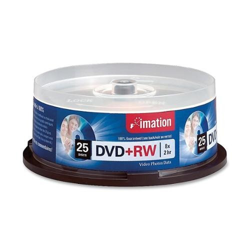 dvd-rw imation nuevo 100% original 4.7gb paquete de 25pcs