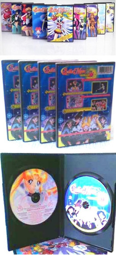 dvd sailor moon sailor stars, 9 volumenes con serie completa