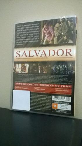 dvd salvador - manuel huerga - original - lacrado - dublado