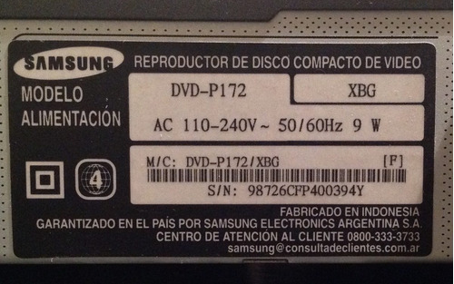 dvd samsung reproductor