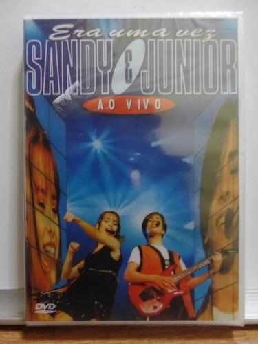 dvd sandy e júnior - era uma vez ao vivo novo lacrado