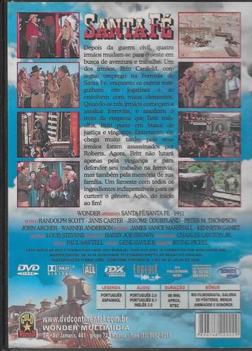 dvd - santa fé - randolph scott - lacrado
