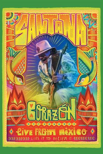dvd santana corazon live from mexico en stock musicanoba