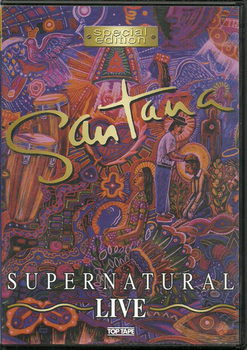 dvd santana - supernatural live - 2000