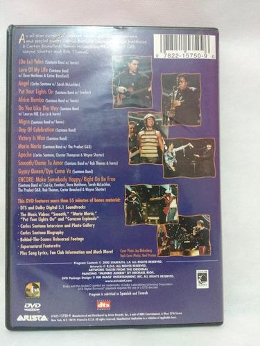 dvd - santana - supernatural live