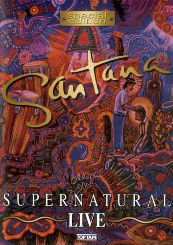 dvd  santana - supernatural live - novo e lacrado