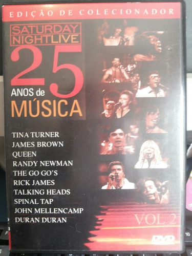 dvd saturday night live 25 anos de música