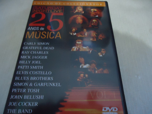 dvd -  saturday night live 25 anos de música vol.1