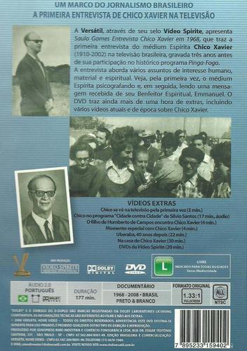 dvd saulo gomes entrevista chico xavier em 1968