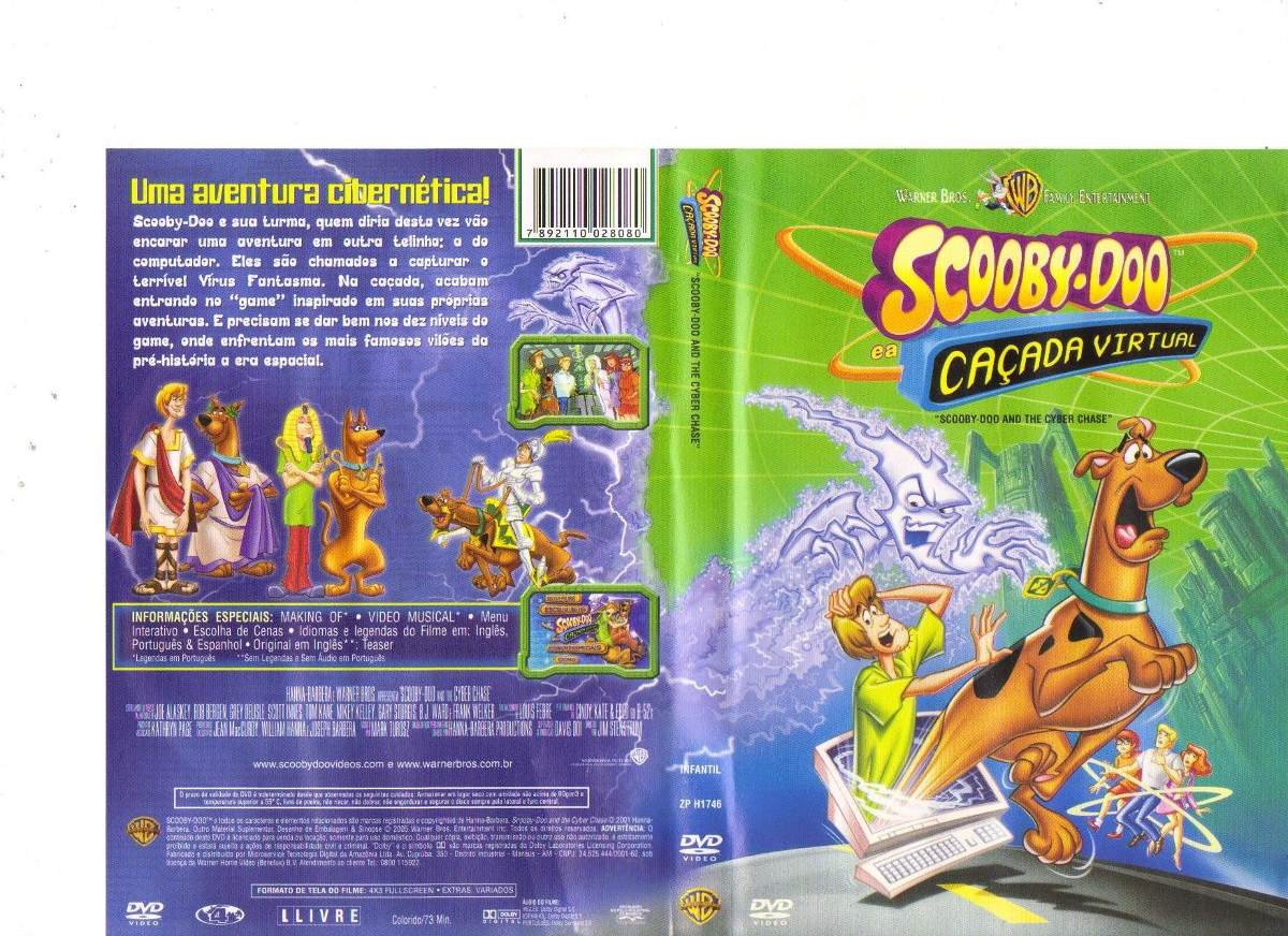 Dvd Scooby Doo E A Cacada Virtual Desenho Original R 18 00