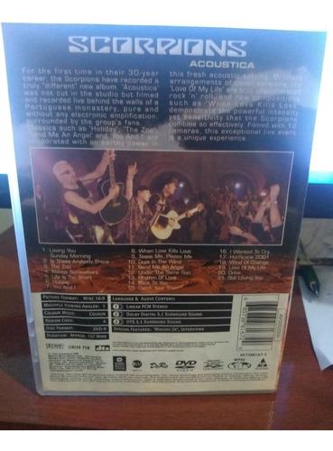 dvd scorpions acoustica