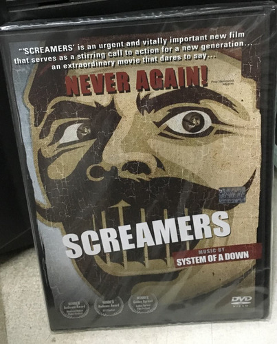 dvd screamers  music sistem of a down nuevo