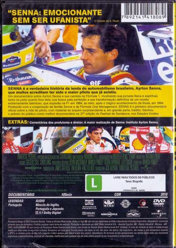 dvd senna - o brasileiro, o herói, o campeão - novo***