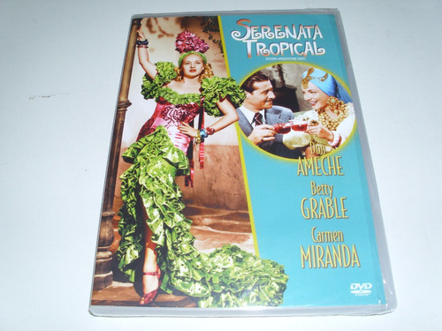 dvd serenata tropical com carmen miranda  e betty grable
