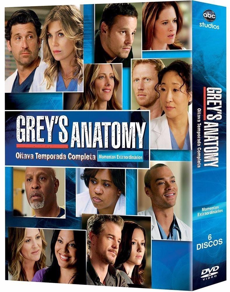 Dvd Srie Greys Anatomy 8 Temporada Completa R 2090 Em Mercado